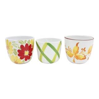 Italian Art Pottery Planters - Set of 3