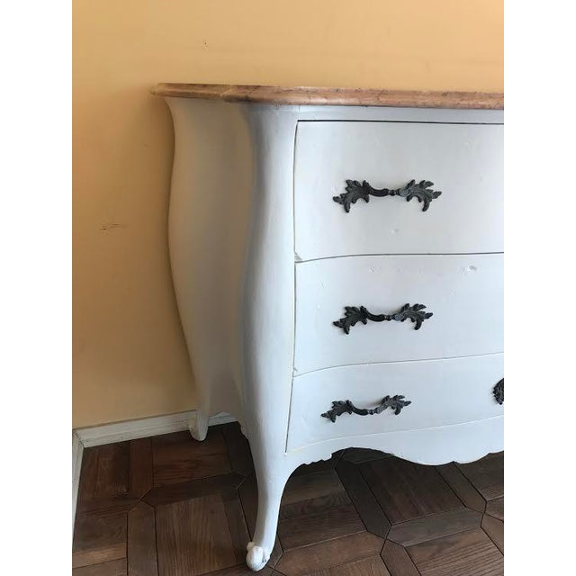 Marble Top French Country Chest - Image 4 of 10