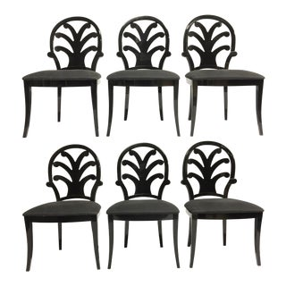 Ello Constantini Pietro Black Lacquered Dining Chairs - Set of 6