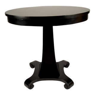 Late 19th Century Ebonized Empire Side Table