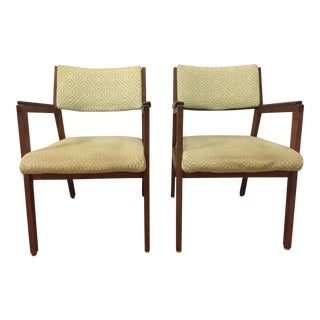 Alma Mid-Century Walnut Chairs - A Pair
