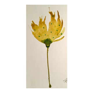 Hunters Ochre Botanical Watercolor Painting