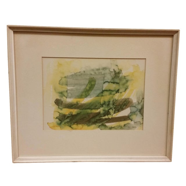 Abstract Expressionist Watercolor Painting - Image 1 of 5