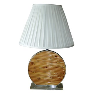 Chromalite Bamboo, Lucite & Chrome Table Lamp