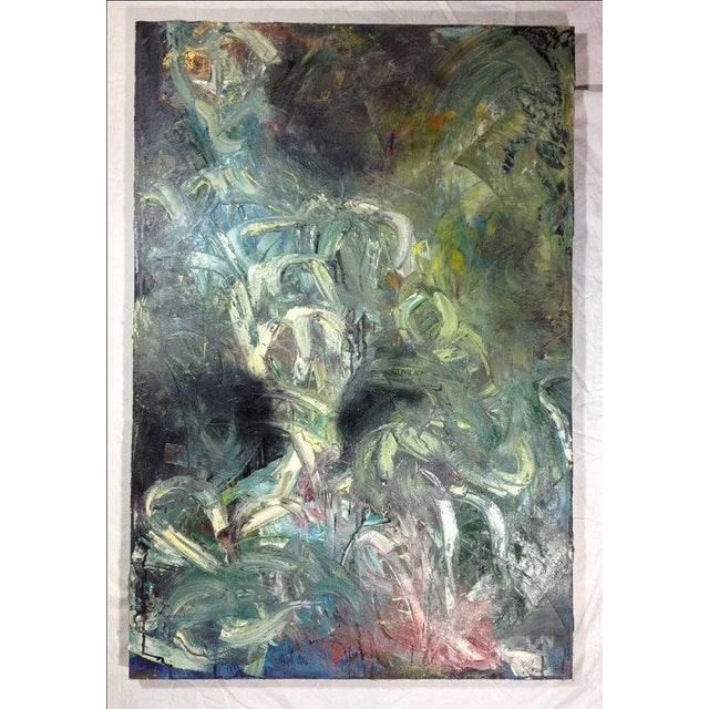 'Grows Cold' Abstract Painting - Image 2 of 4