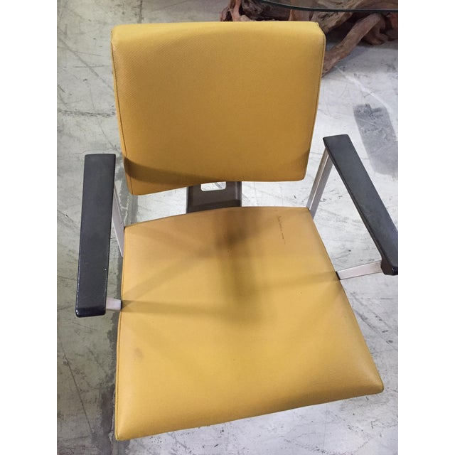 Vintage Yellow Office Chair - Image 6 of 7