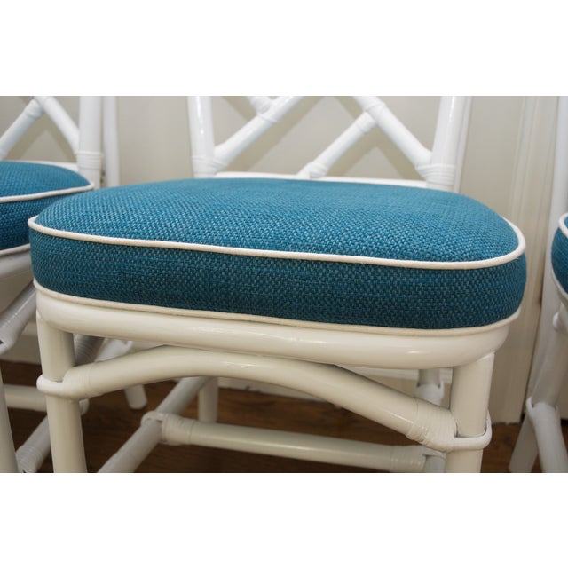 Refinished Ficks Reed Rattan Chairs - Set of 4 - Image 7 of 8