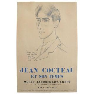 1965 Original Picasso Exhibition Poster, Jean Cocteau
