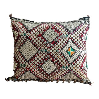 Vintage Sequined Moroccan Wool Pillow