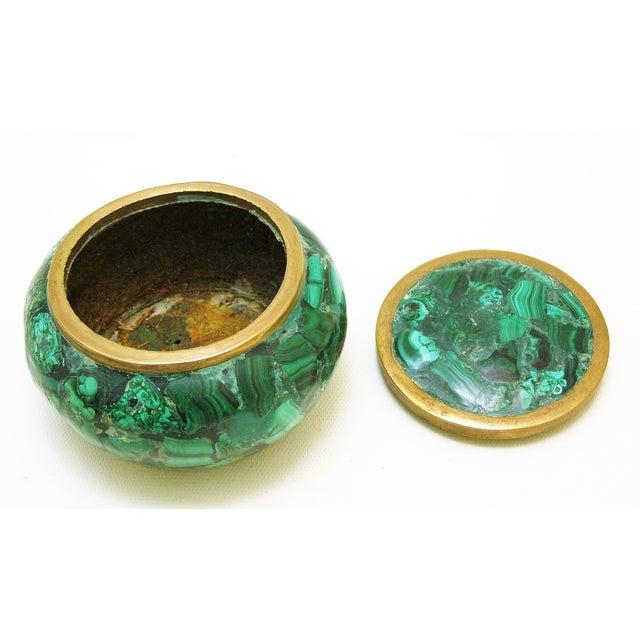 Round Malachite Lidded Box - Image 5 of 8