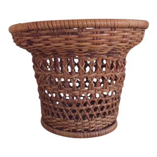 Woven Rattan Small Plant Basket