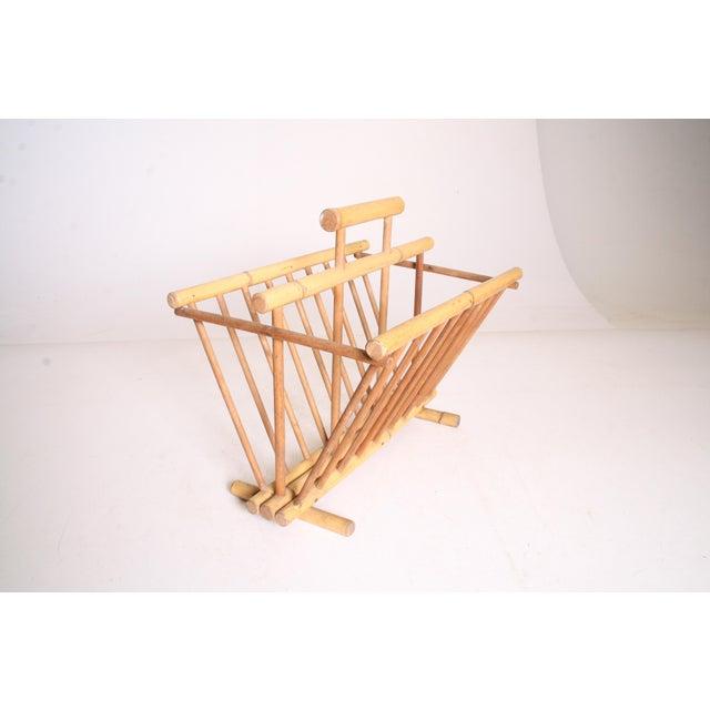 Vintage Boho Chic Bamboo Magazine Rack - Image 5 of 11