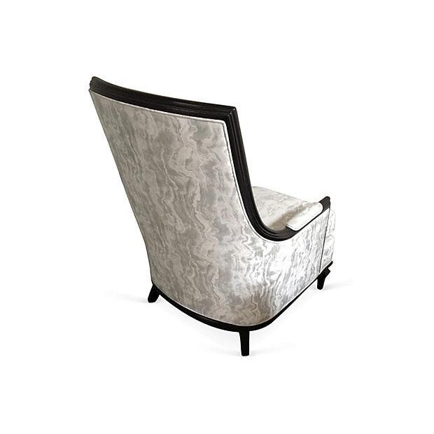 Baker Attri. Vintage 1956 High-Back Club Chair - Image 3 of 8