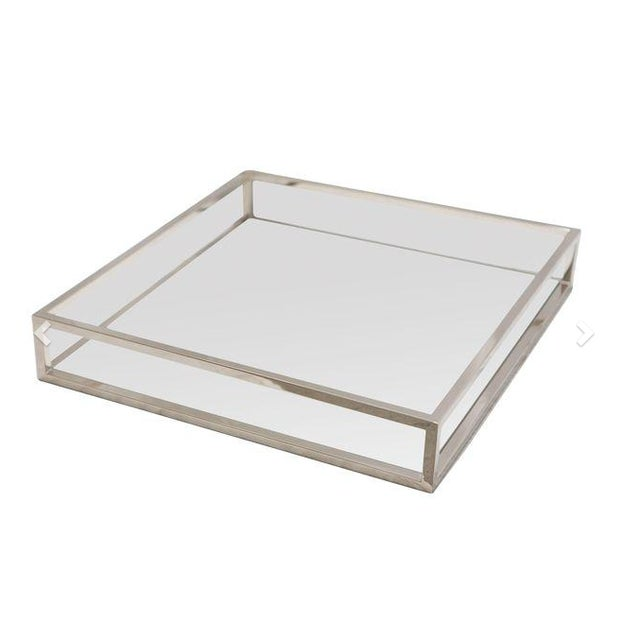 Chrome & White Tray - Image 1 of 2