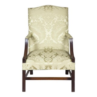 George III Chippendale Mahogany Library Chair