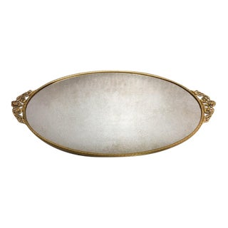 Hollywood Regency Goldtone Dresser Mirror