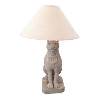 Regal Stone Cat Lamp