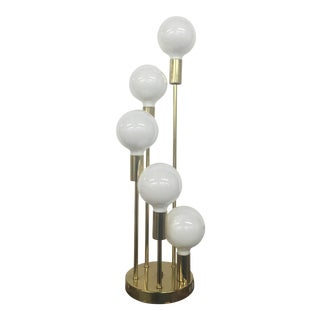 Mid-Century Modern Waterfall 5 Globe Table Lamp