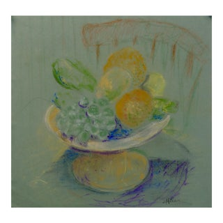 Fruit Still Life Pastel Drawing