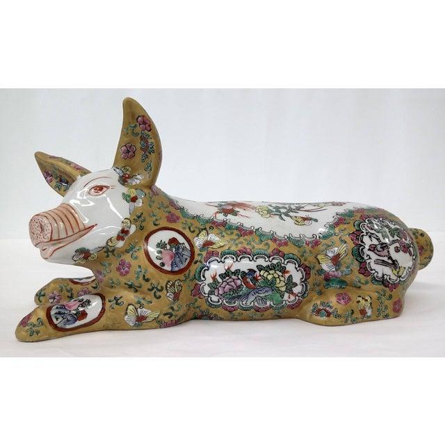 Japanese Meiji Antique Porcelain Pig - Image 4 of 10