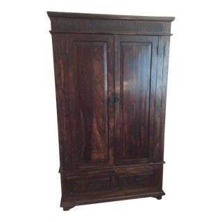 Transitional Solid Wood Entertainment Armoire