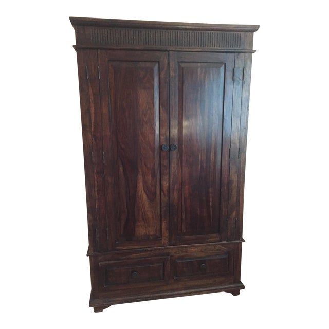 Solid Wood Computer Armoire ~ Transitional solid wood entertainment armoire chairish