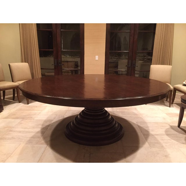 Image of Dos Gallos Round Mahogany Dining Table