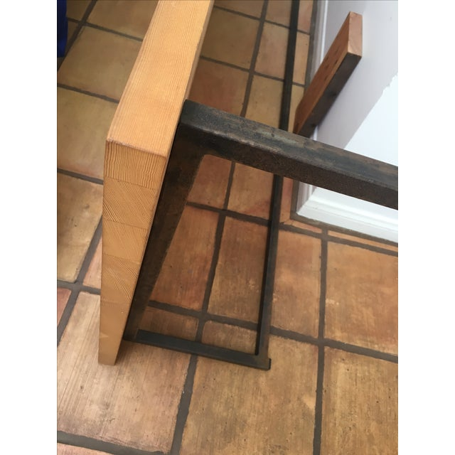 Cisco Wooden Coffee Table with Iron Leg Work - Image 4 of 6