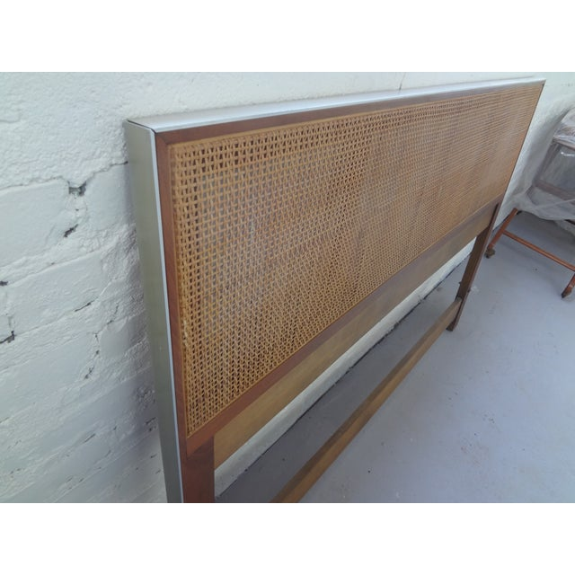 Walnut and Caned Full Headboard - Image 4 of 6