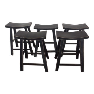 Gumps Classic Zen Counter Stools - Set of 5