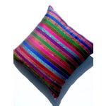Image of Silk Ikat Multi Stripe Floor Pillow