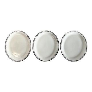 Black & White Platters - Set of 3