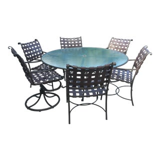 Brown Jordan Roma Collection Dining Table & Six Chairs- Set of 7