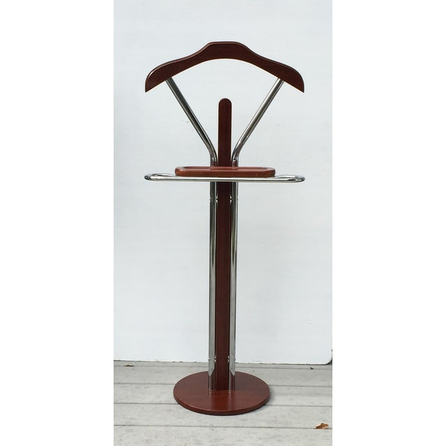 Chrome wood men s valet stand chairish