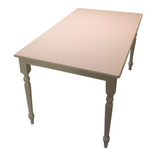 White Hampton Dining Table