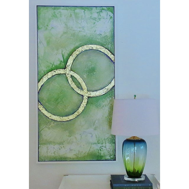 Framed Infinity Series Mixed Media Painting - Image 2 of 5