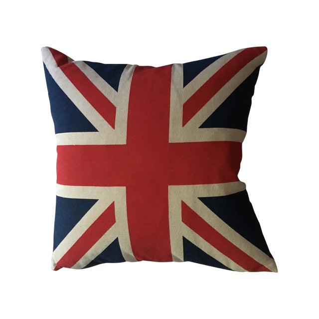 Vintage British Union Jack Flag Pillow - Image 1 of 5