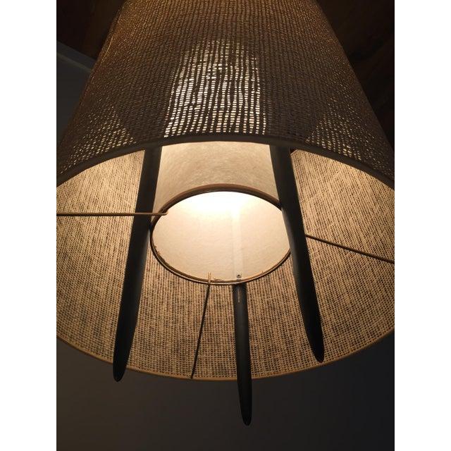 Modeline Mid Century Walnut Amp Brass Floor Lamp Chairish