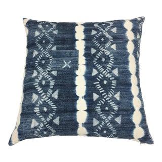 African Indigo Shibori Pillows - A Pair