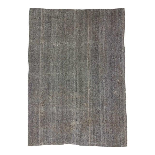 Image of Vintage Turkish Modern Gray Kilim Rug- 8′ × 11′1″
