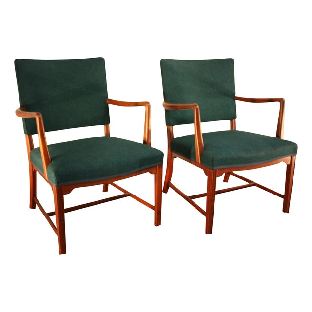 Kaare Klint Style Teak Armchairs - A Pair - Image 1 of 5