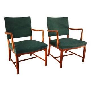 Kaare Klint Style Teak Armchairs - A Pair