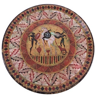 Hand-Painted 700 B.C. Plate by Fotini