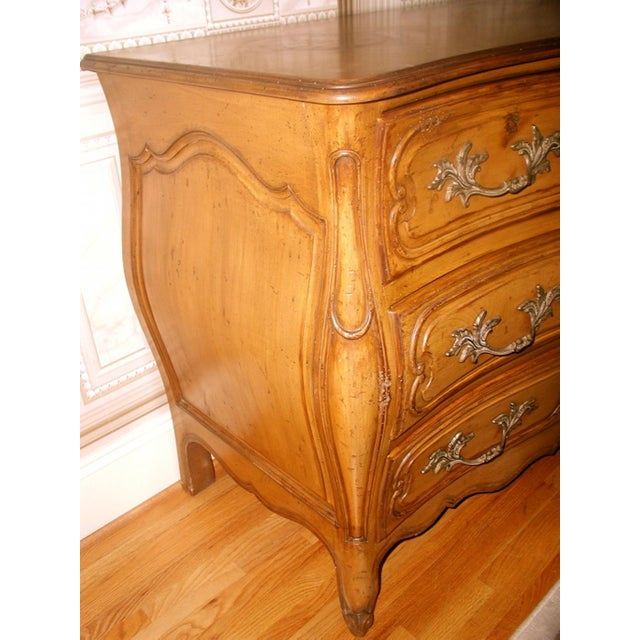 French 20th C. Five Drawer Fruitwood Chest - Image 7 of 9
