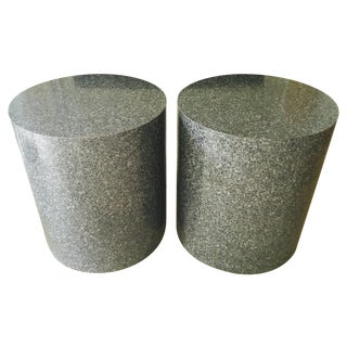 Modern Paul Mayen Style Drum Side Tables - A Pair