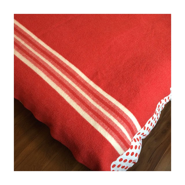 Image of Amana Vintage Red Wool Blanket