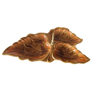 Leaf Shaped Center Handle Serving Dish