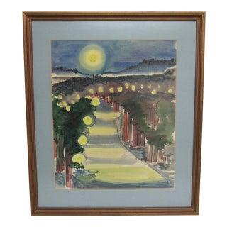 """Frances D. Hoar """"Night Landscape"""""""