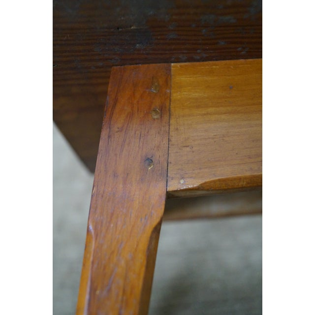 Image of 19th Century Southern Pine Splay Leg Low Table