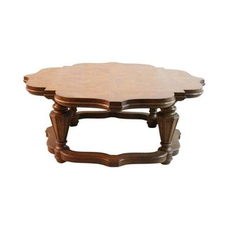 Heritage Scalloped Fruitwood Coffee Table